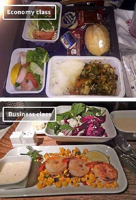 Delta-airline-food-business-vs-economy
