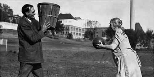 James Naismith, the inventor of basketball, with his wife