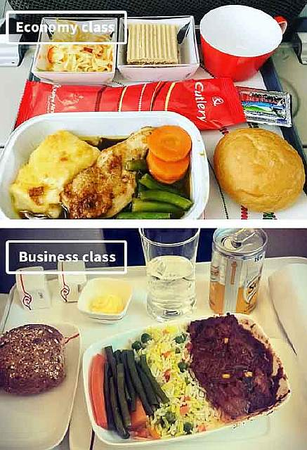 Kenya Airlines-airline-food