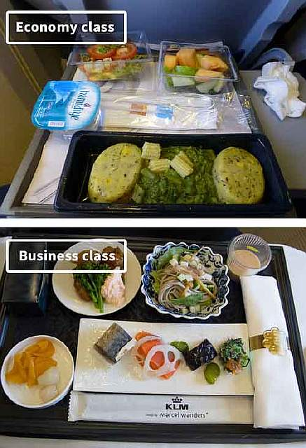 Klm-airline-food-business-vs-economy