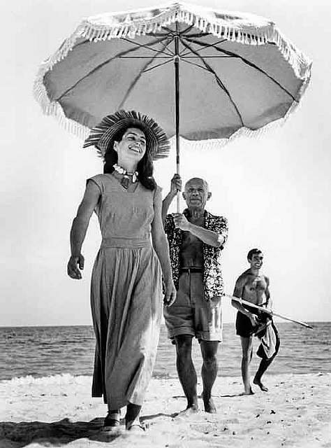 Pablo Picasso and Francois Gilot in 1948