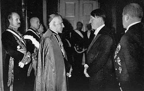 Pope Pio XII meets with Hitler