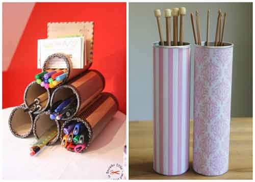 Stationery stuff and knitting needles holder