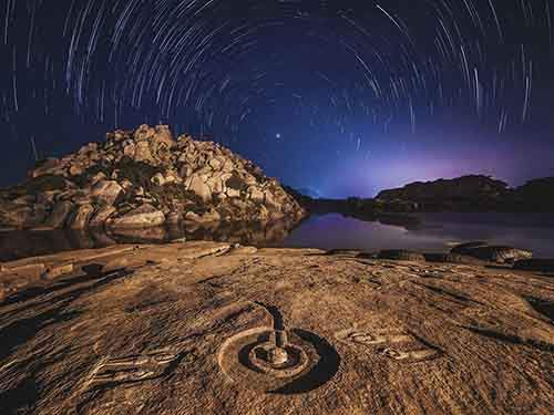 hampi-star-trails