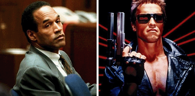 O.J. Simpson almost played the Terminator