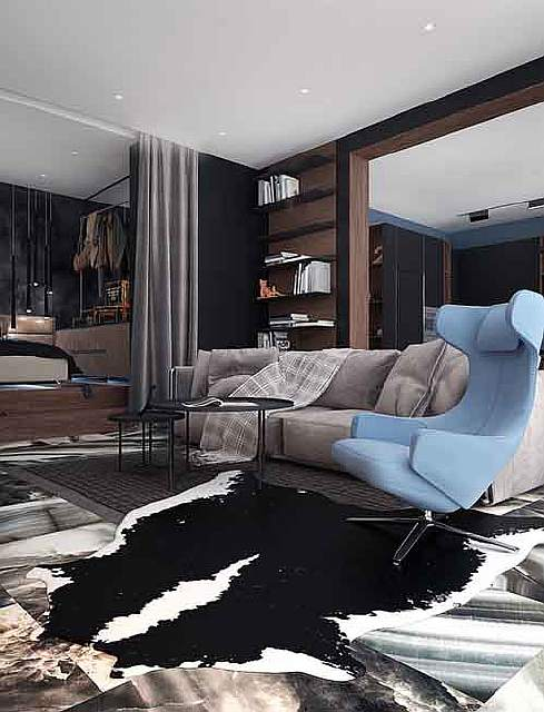 blue-and-black-apartment-theme