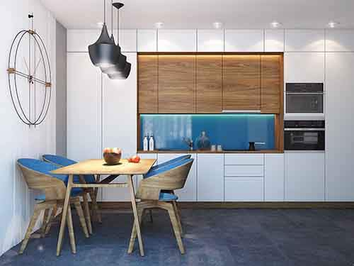 blue-and-wood-kitchen-theme