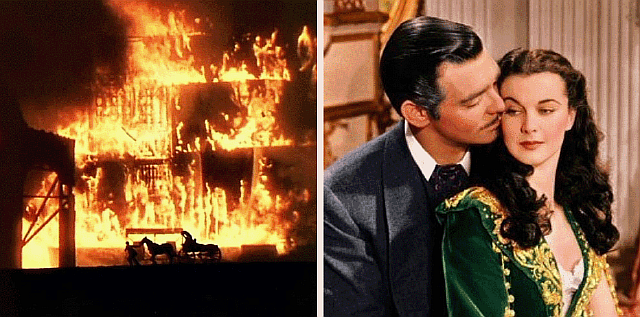 burning-of-Atlanta scene in Gone With the Wind