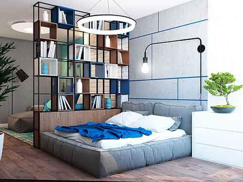 open-divider-for-studio-apartment