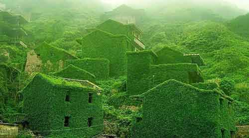 An abandoned Chinese fishing village