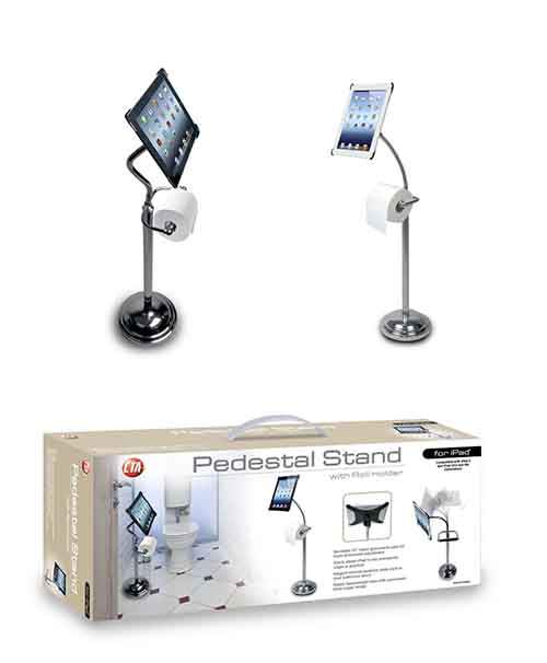 gadgets-for-lazy-people-Pedestal-Stand-for-iPad-toilet-paper-Roll-Holder