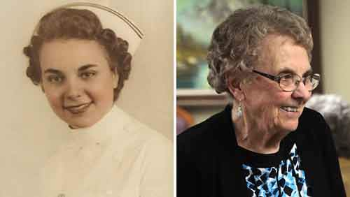 Alice Graber retired after 72 years as a nurse