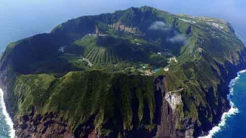 Aogashima Japanese Town Inside an Active Volcano