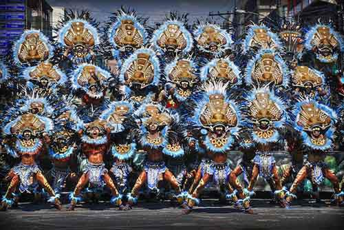 Annual celebration of Dinagyang festival of Iloilo, Philippines
