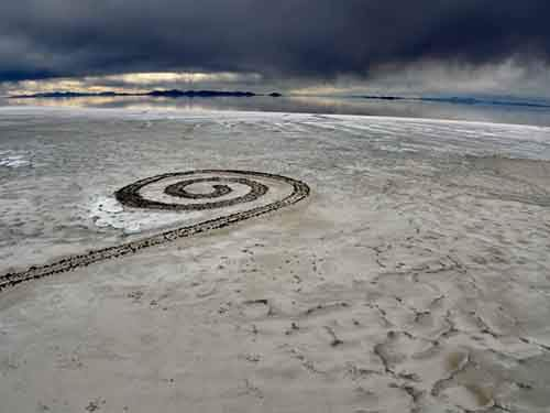 Spiral Jetty in the Great Salt Lake, Utah